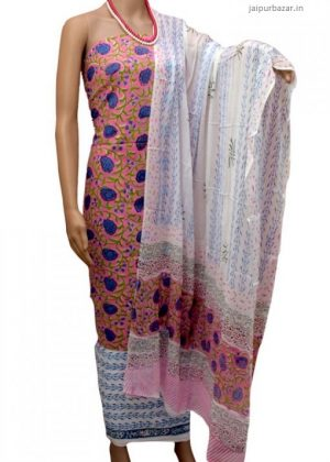 block Printed Cotton Salwar suit