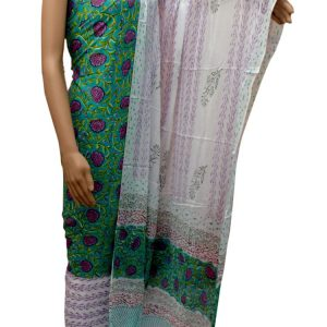 handblock Printed Cotton salwar-Suit