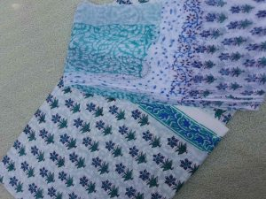 handblock printed starred prints