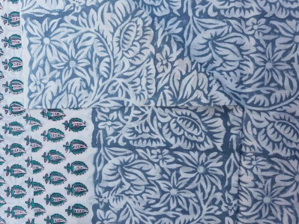 small leaves prints - block printed suits
