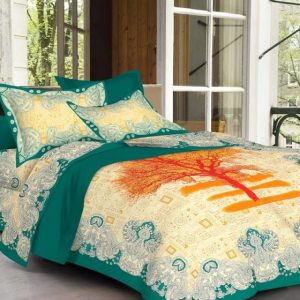 multi color sanganeri bed sheets