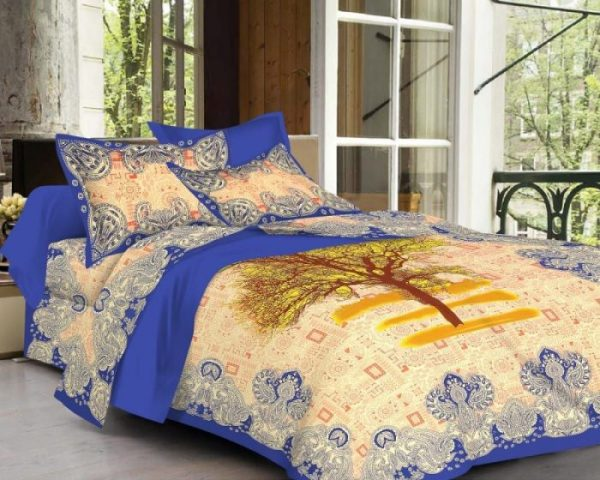 jaipuri screen printed bedsheet
