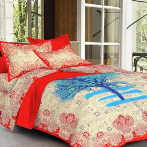 Designer Sanganeri bed cover