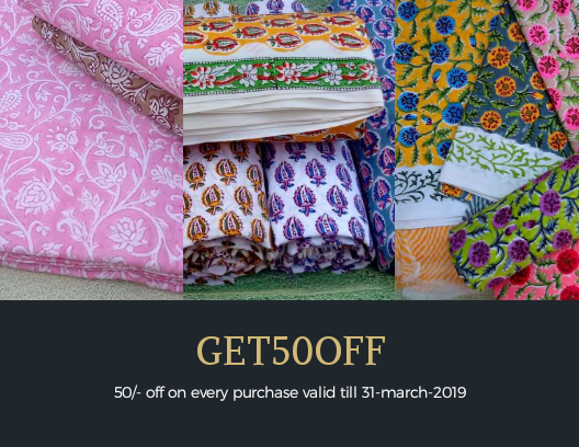 50/- rupees off on every order on jaipurbazar.in