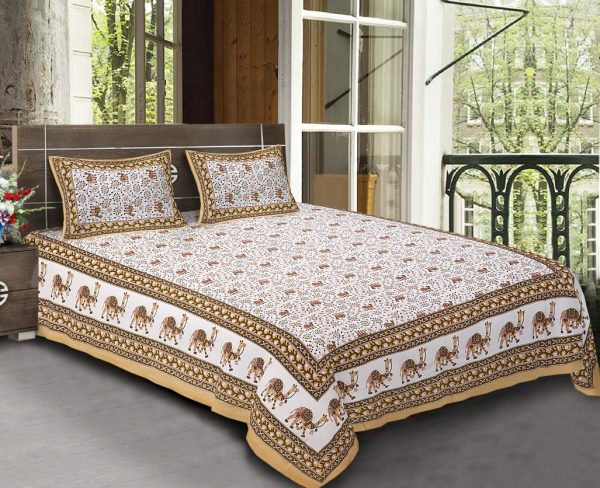 cotton bed sheet design