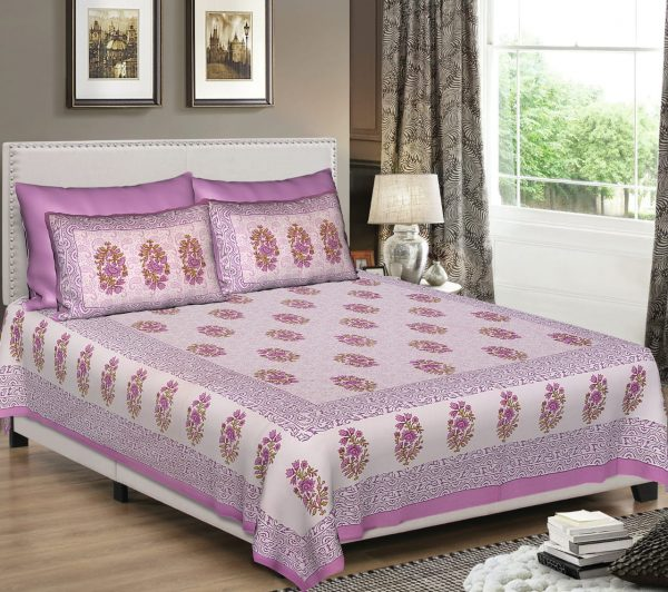 bombay dyeing king size bed sheets online