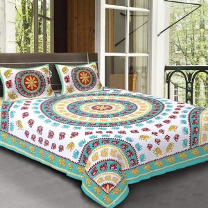 round bed sheets india