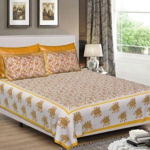bedsheets rajasthani cotton double bed set combo