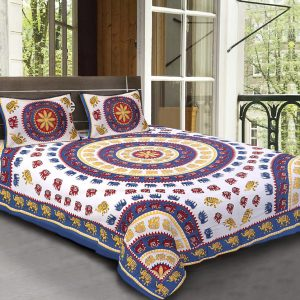 bedsheets in cotton for double bed