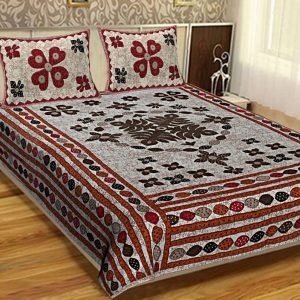 bed sheets cotton double bed set combo