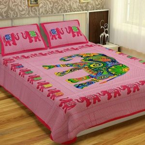 Bed sheets for queen size bed with pillow