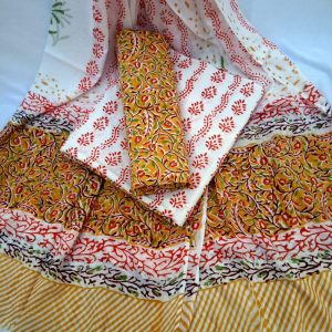 Cotton suits with Cotton Dupatta