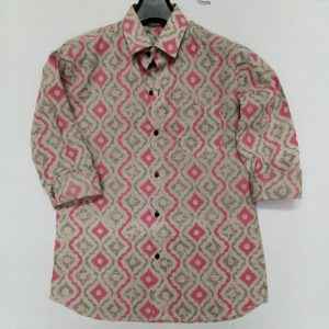 Cotton Block Print Shirt