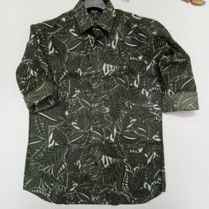 Cotton Block Printed Shirt