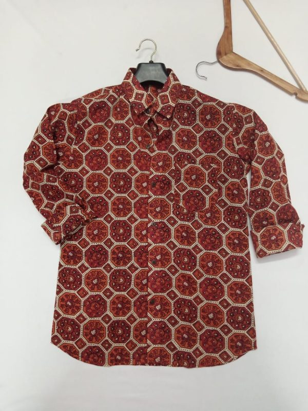 Cotton Hand Block Print Shirt