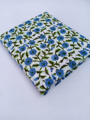 Multi Floral Hand Block Printed Fabric