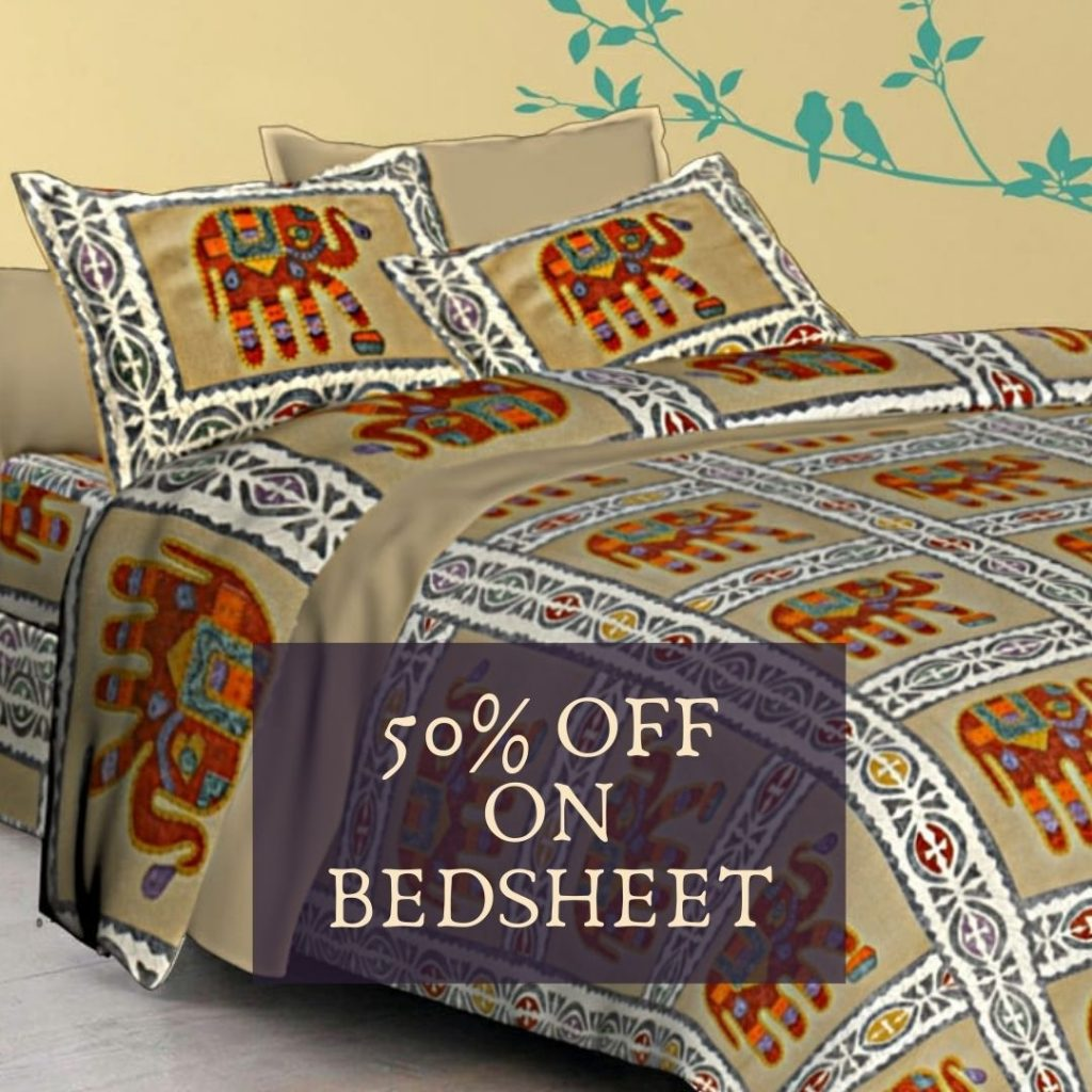 50% OFF on Bedsheets Jaipur Bazar