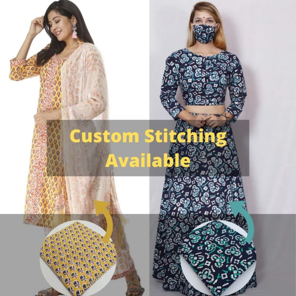 Custom Stitching Available At Jaipur Bazar
